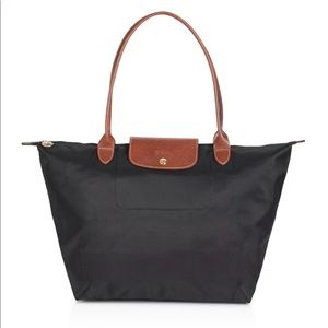NWT Longchamp Le Pliage Large Nylon Shoulder Tote